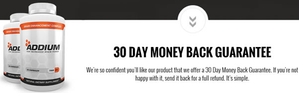 Addium Money Back Guarantee