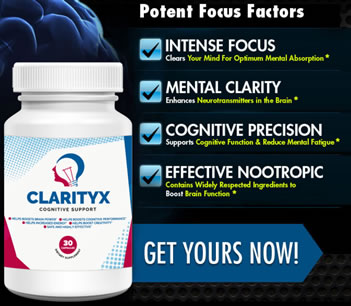 ClarityX - Improve Cognitive Function, Focus and Get More Brain Power