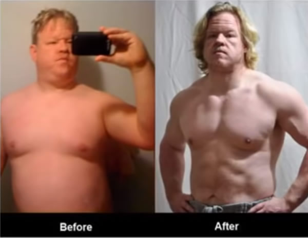 Dennis R before and after. Another happy user of Maximum Male