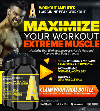 Alphadrox workout amplifier for your muscle building