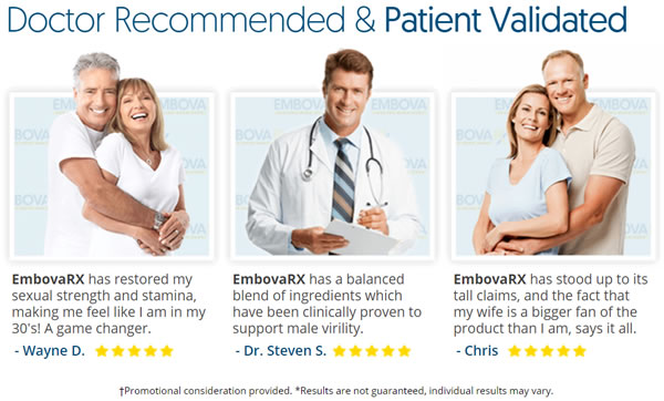 Embova RX testimonials and doctors