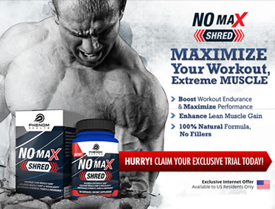 No Max Shred Review - Increase NO2 Levels For Better Muscle Building