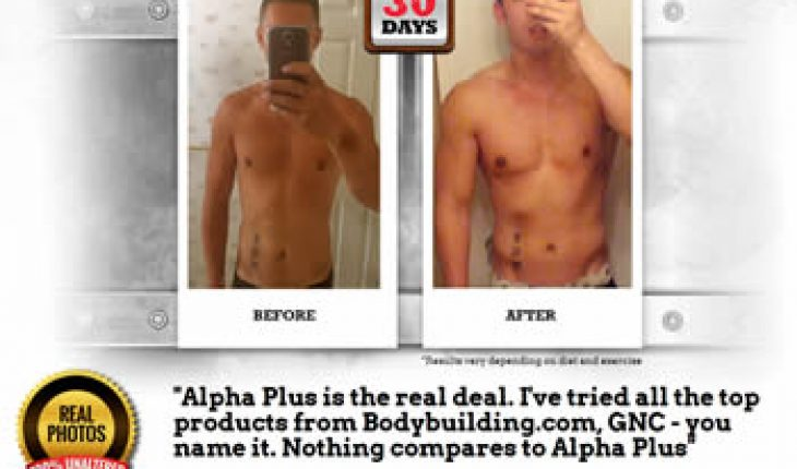 Zac Before and after using Alpha Plus Test Booster