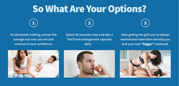 With or without Test Troxin, what are your options?